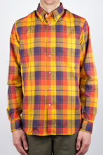 Gino Linen Mix Plaid - Yellow/Purple