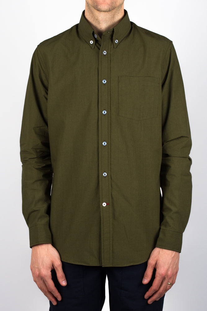 Gino Over Dyed Poplin - Olive