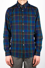 Gino Linen Mix Plaid - Blue/Green/Orange