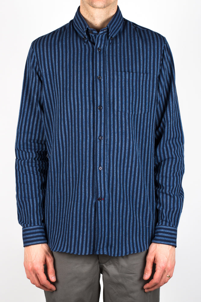 Gino Dobby Stripe - Navy/Light Blue