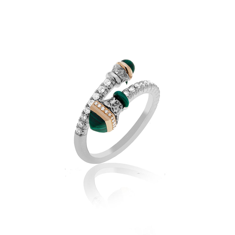 PALMYRA RING IN MALACHITE