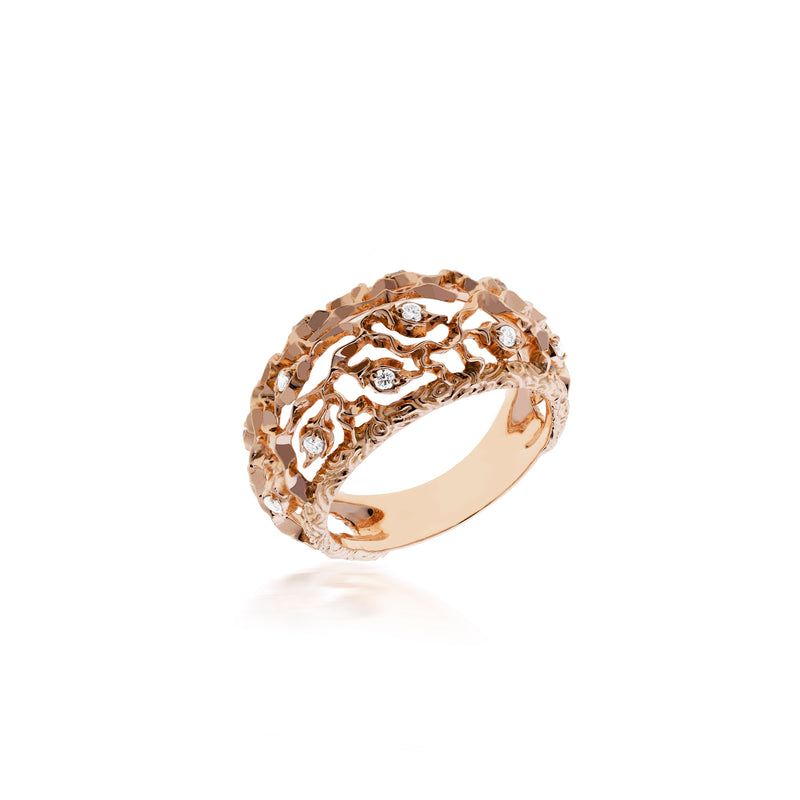 PRECIOUS LACE RING IN ROSE GOLD