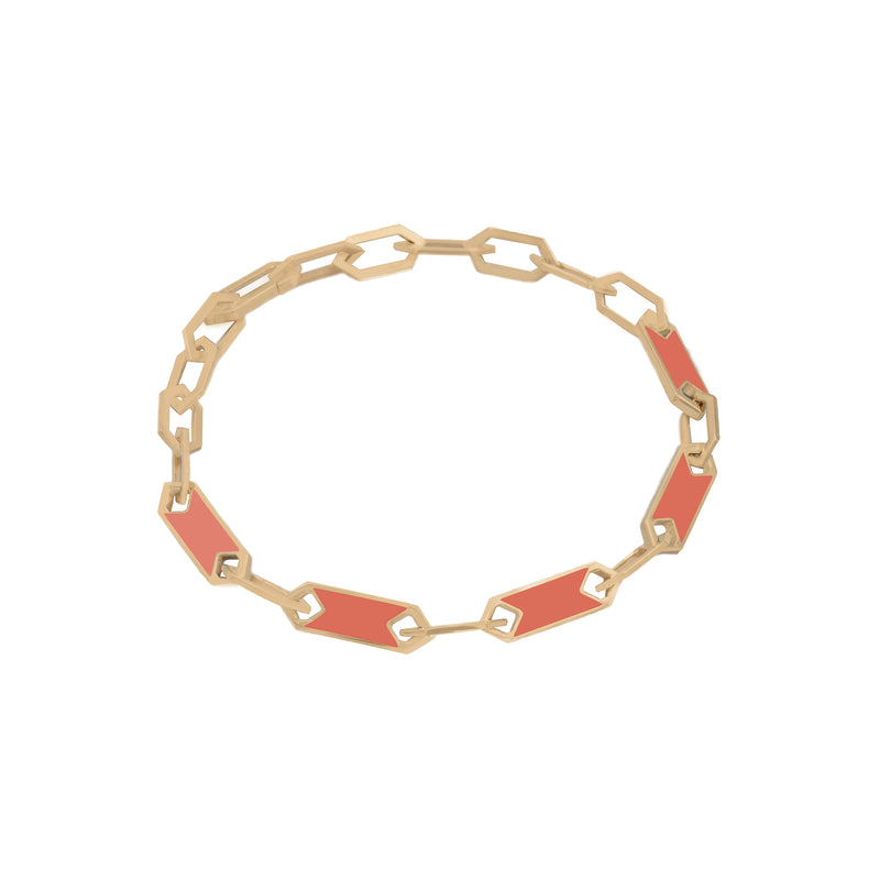 ROSE BRACELET IN ORANGE CORAL