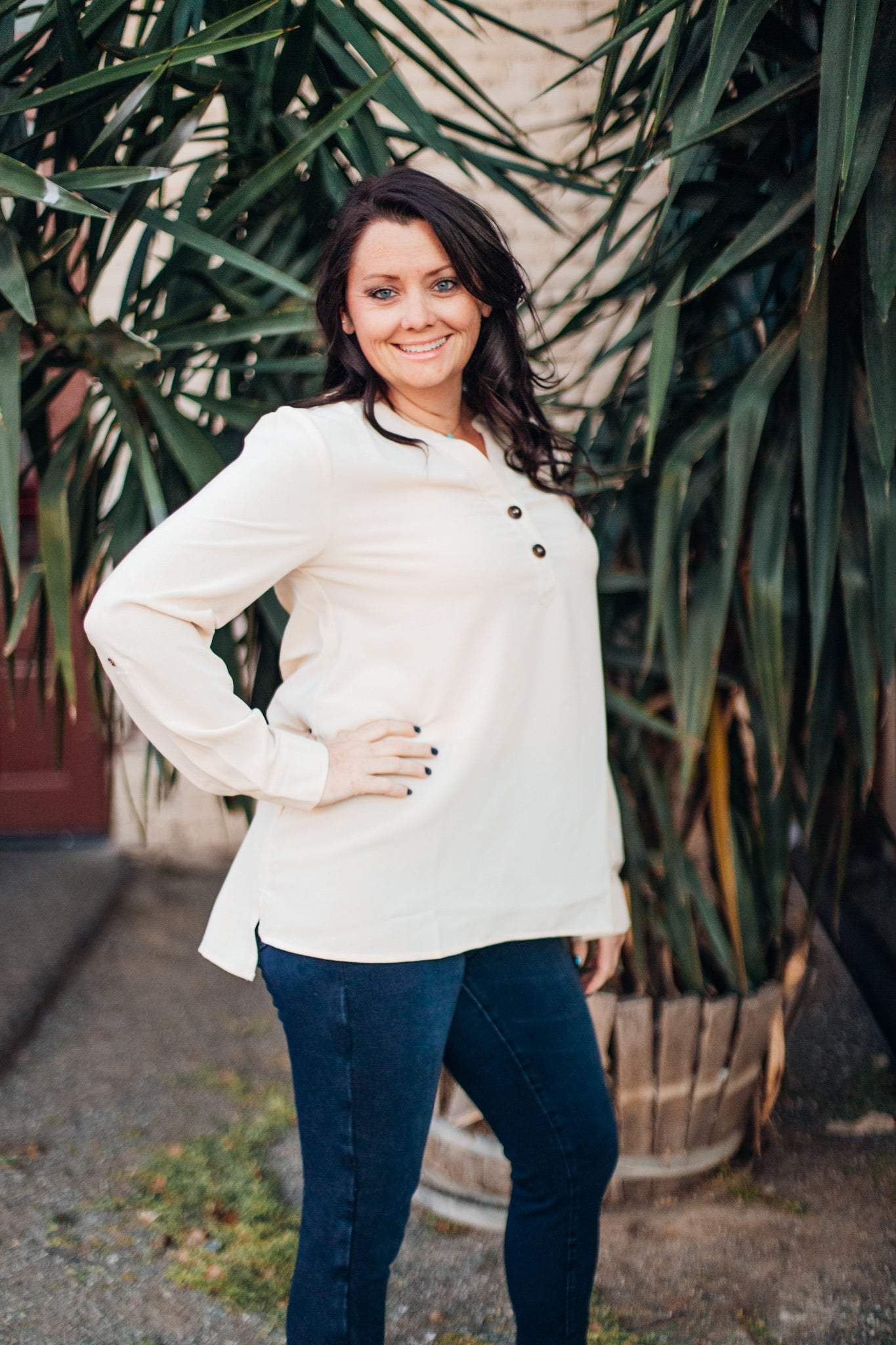 Oatmeal Tunic Top
