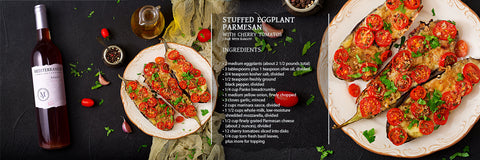 Stuffed Eggplant Parmesan with Cherry Tomatoes