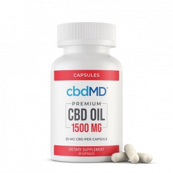 Premium CBD Oil Capsules - 1500mg - 60 Pieces - The CBD Retailer