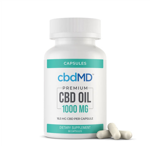 Premium CBD Capsules - 1000mg - 60 Pieces - The CBD Retailer