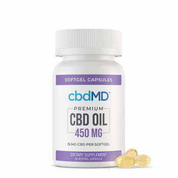 CBD Oil Softgel Capsules - 450mg - 30 Pieces - The CBD Retailer