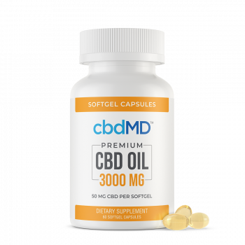 CBD Oil Softgel Capsules - 3000mg - 60 Pieces - The CBD Retailer