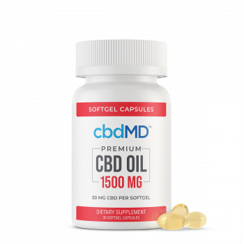 CBD Oil Softgel Capsules - 1500mg - 30 Pieces - The CBD Retailer