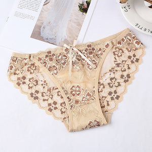 Sexy Panties Lace Low-waist Briefs