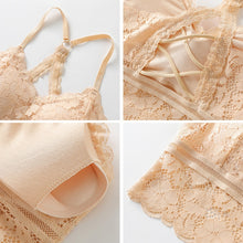 Load image into Gallery viewer, Beige Sexy Lighty Lace Bra Top