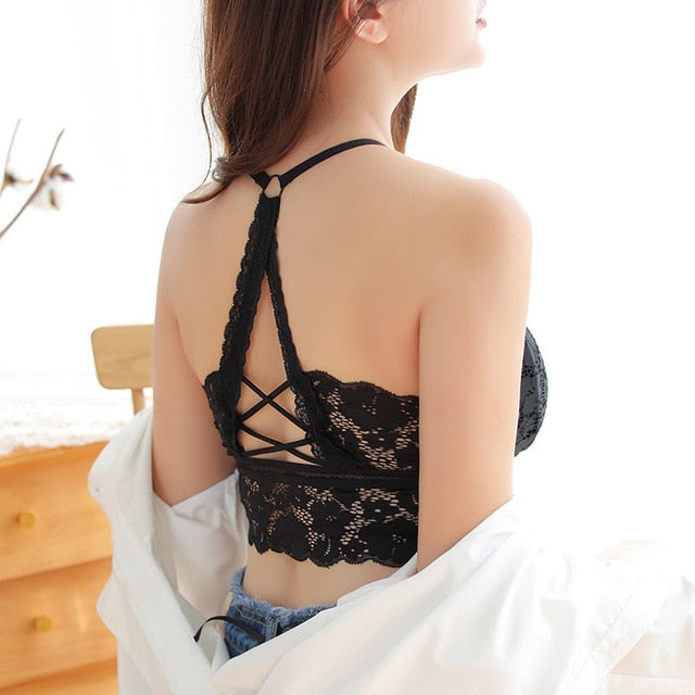 Black Sexy Lighty Lace Bra Top