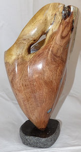 Mesquite Vase with Blue Opal