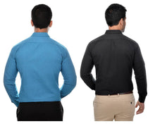 Load image into Gallery viewer, Multicoloured Khadi Solid Long Sleeve Formal Shirt (Combo of 2)
