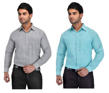 Load image into Gallery viewer, BUY 1 GET 1 FREE Multicoloured Khadi Solid Long Sleeve Formal Shirt