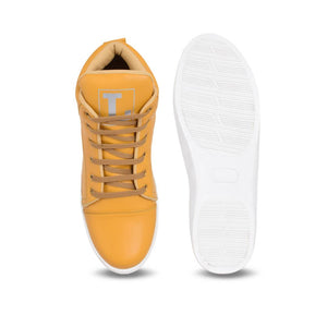 Tan Synthetic Sneakers Casual Shoes for Men's