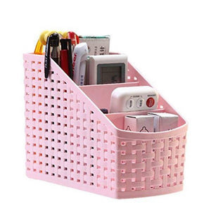 4 Sections Plastic Multipurpose Storage Basket (Colour May Vary) - 2 Pieces