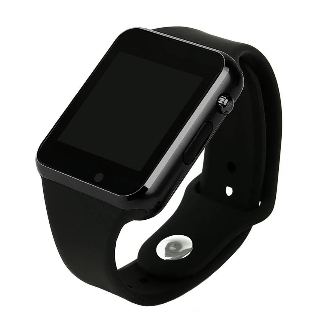 Elegant Black Rubber Digital Smart Watch with Calling & Camera