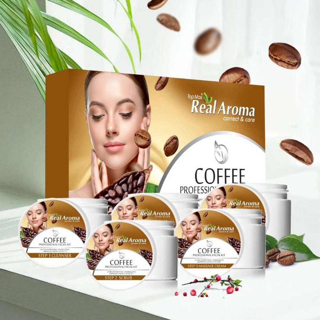 Topmax Real Aroma Coffee Professional Facial Kit 5 in 1
