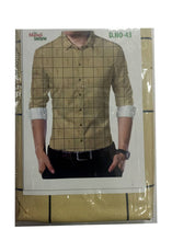 Load image into Gallery viewer, Men's Beige Polyester Blend Unstitched Shirt Piece