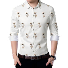 Load image into Gallery viewer, White Poly Blend Unstitched Shirt Piece