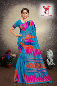 Stylish Cotton Jacquard Saree With Blouse Piece