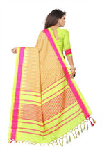 Load image into Gallery viewer, Women's Pure Silk Checks pattern Saree With Blouse Piece