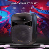 LAGRIMA LPS-312 Portable 15-Inch Woofer 2-Way Powered PA Speaker System Combo Set