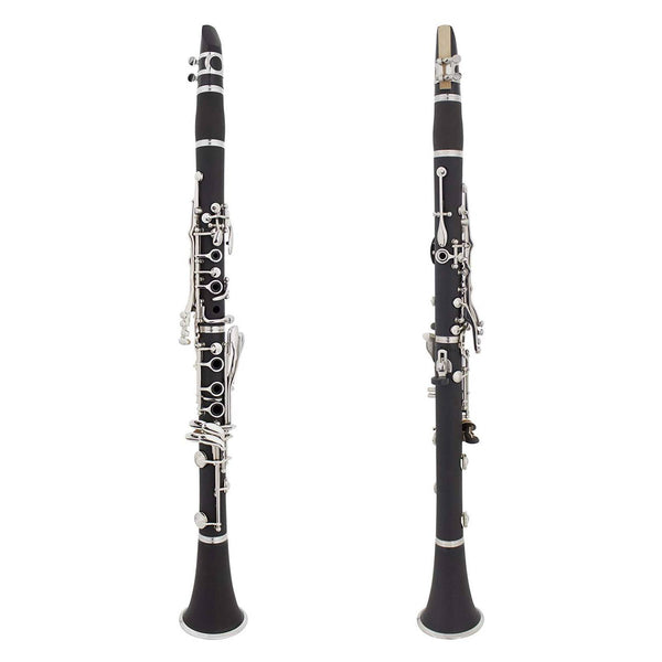 LAGRIMA Black Ebonite B Flat Clarinet for Students Beginner Adult