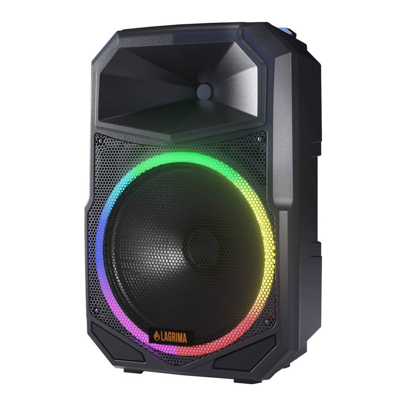 LAGRIMA LPS-600 15-Inch 2-Way 1800W Portable PA Speaker System with Stand, 3 LED Conversion Mode