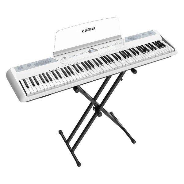 LAGRIMA LAG-570 Full Size Weighted Key Portable Digital Piano, 88 Key Electric Keyboard Piano for Beginner/Adults with Stand