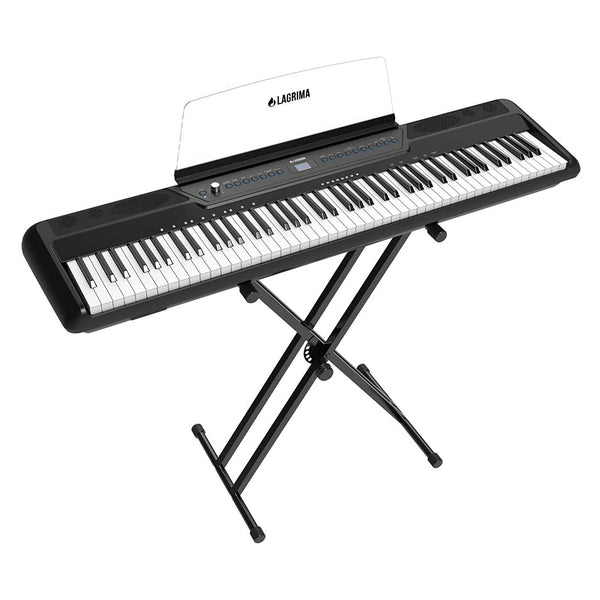 LAGRIMA LAG-560 Full Size Weighted Key Portable Digital Piano, 88 Key Electric Keyboard Piano,Black