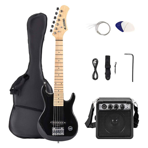 Lagrima Child 30 Inch Electric Guitar Starter Kit (30, Black)