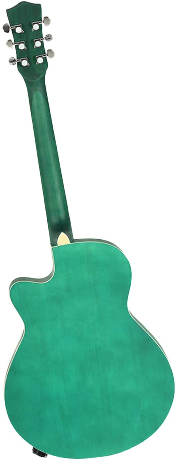 LAGRIMA LGA-430 Full Size 40 inch Handcrafted Beginner Acoustic Cutaway Guitar Set, Matte Green