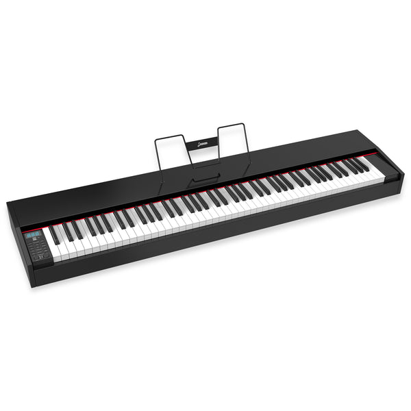 LAGRIMA LAG-620 Full Size Weighted Key Portable Digital Piano,Black