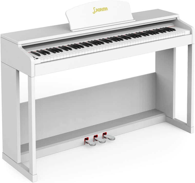 Lagrima  LG-803 88-Key Weighted Hammer Action Digital Piano- White