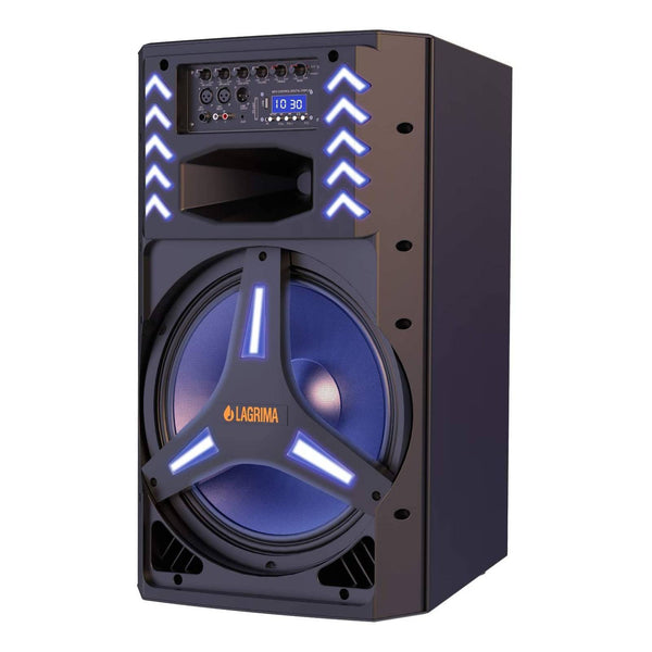 LAGRIMA LPS-500 Portable 15-Inch 2-Way 1800W PA Speaker System