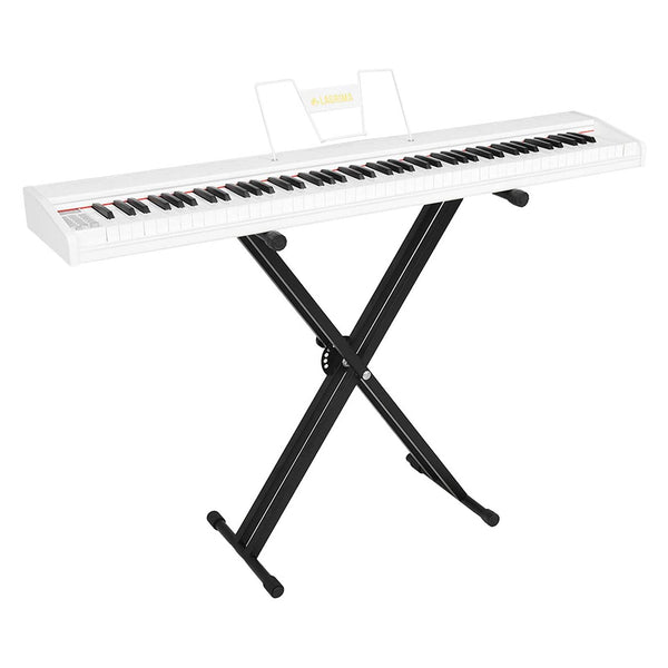 LAGRIMA LAG-610 Full Size Key Portable Digital Piano with X Stand,White