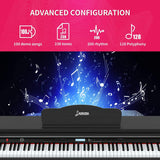 LAGRIMA 88 Key Digital Piano with Bench, Electric Keyboard Piano for Beginner/Adults with 2 Person,Black