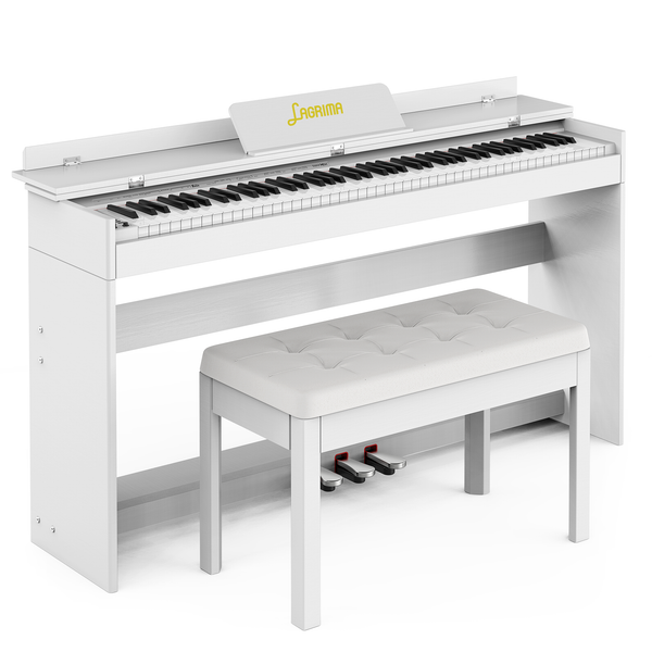 LAGRIMA Digital Piano with Bench, 88 Key Electric Piano for Beginner/Adults with Padded Piano