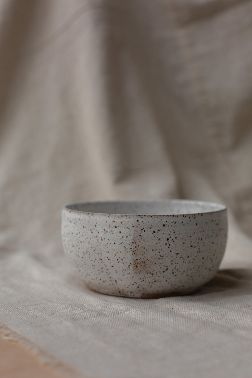 Soup Bowl - speckled white