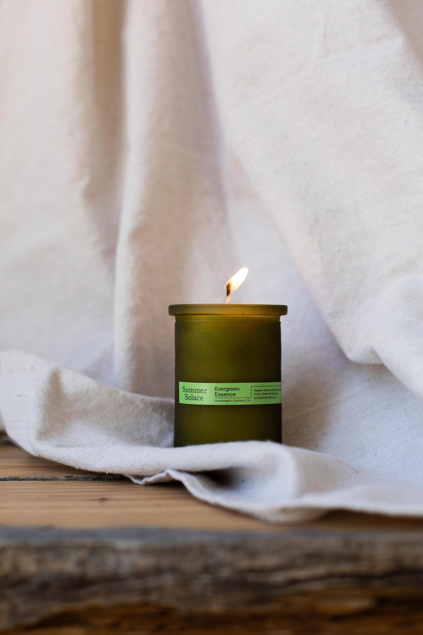 Evergreen Essence Tallow Candle - Cedar & Oakmoss