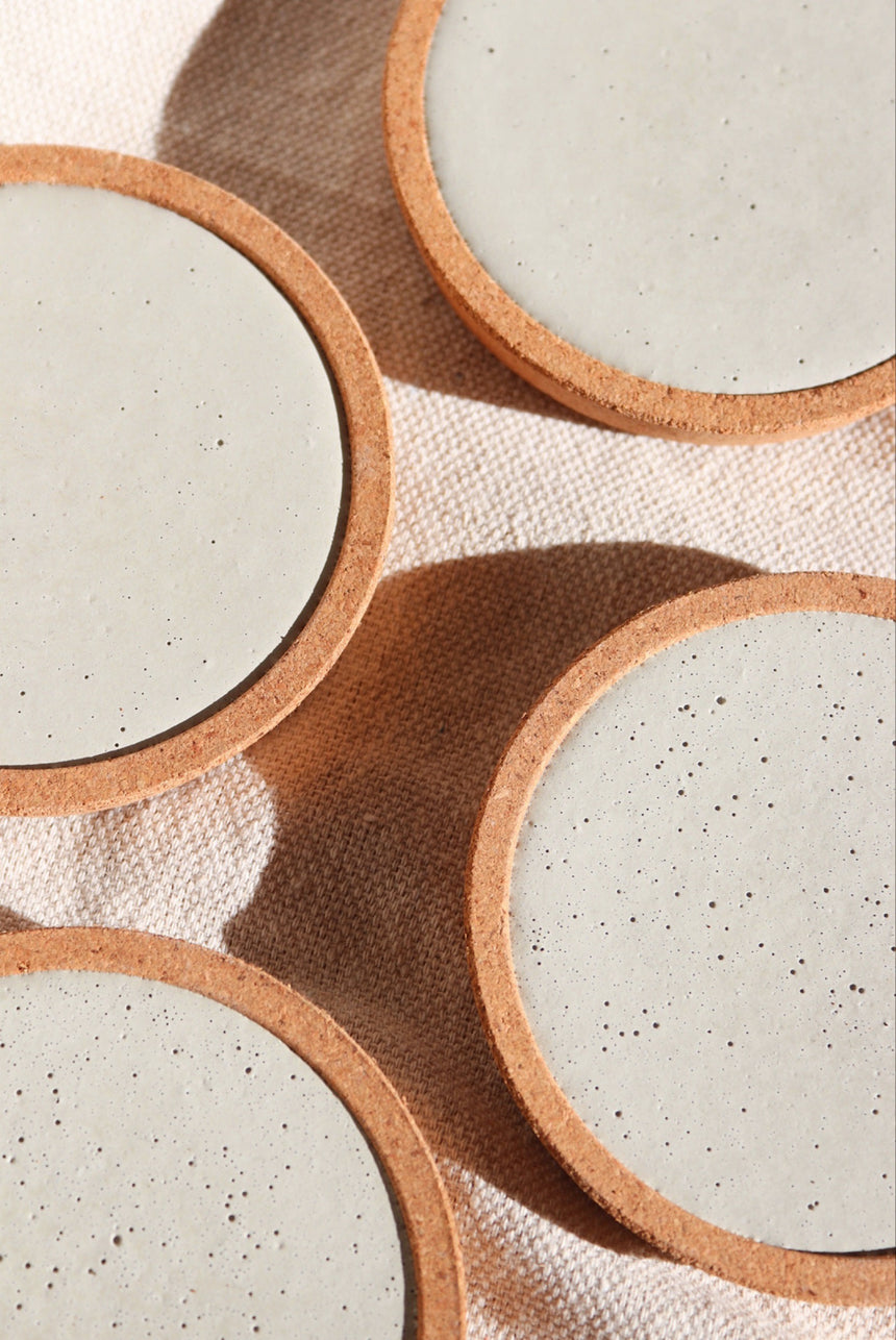 Concrete & Cork Coasters