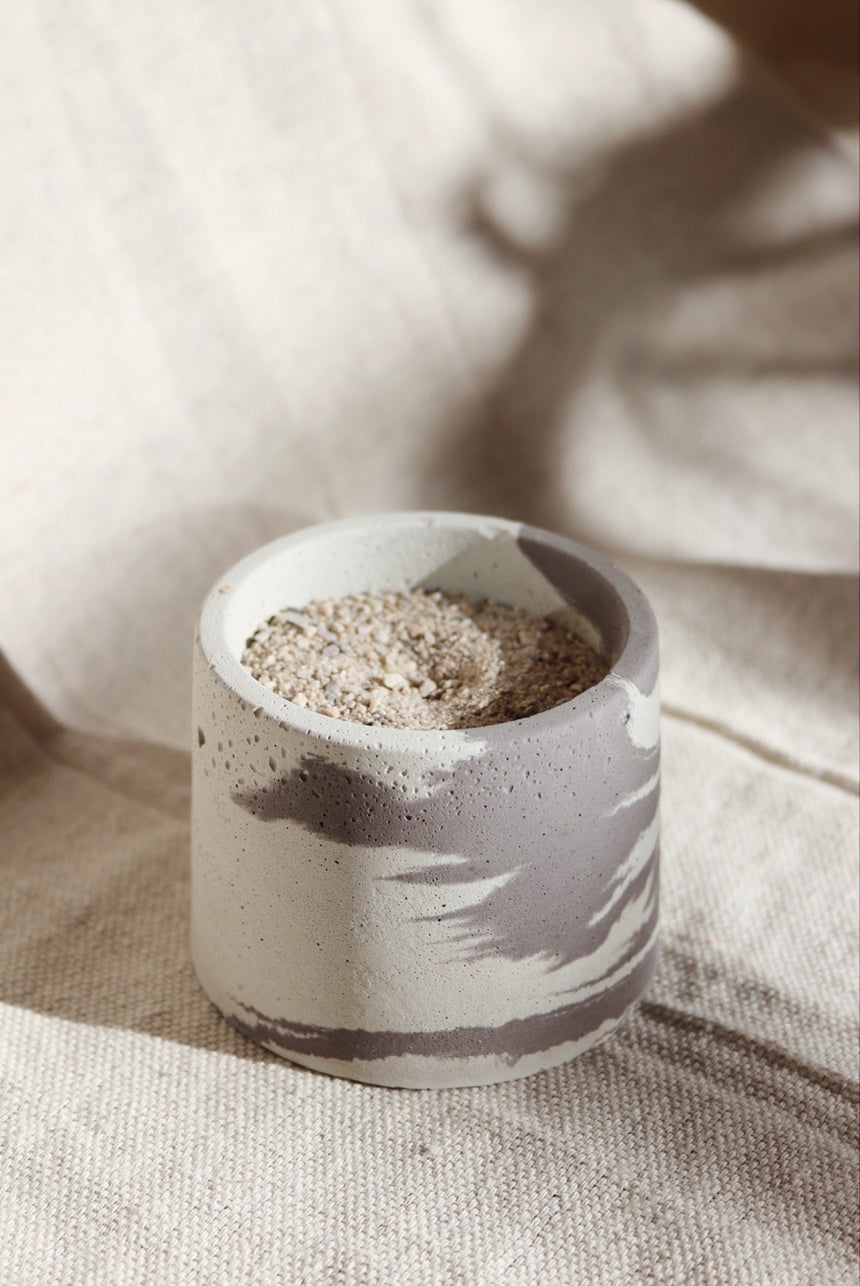 Marbled Concrete Incense Burner