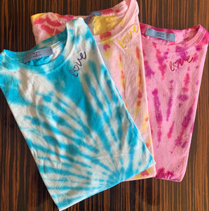 Women's EMBROIDERED Tie Dye T-Shirt