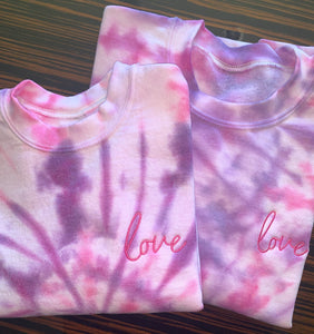 Women's EMBROIDERED Tie Dye Sweatshirt