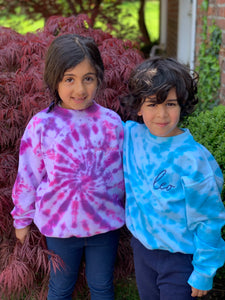 Kid's EMBROIDERED Tie Dye Sweatshirt