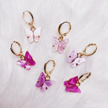 Load image into Gallery viewer, Gradient Butterfly Earring Stack