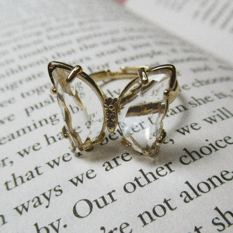 Clarity Butterfly Ring